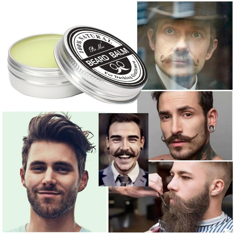 Natural Moustache Beard Shaping Moisturizing Cream 100% Men Balm Soften Conditioner Repair Split Ends