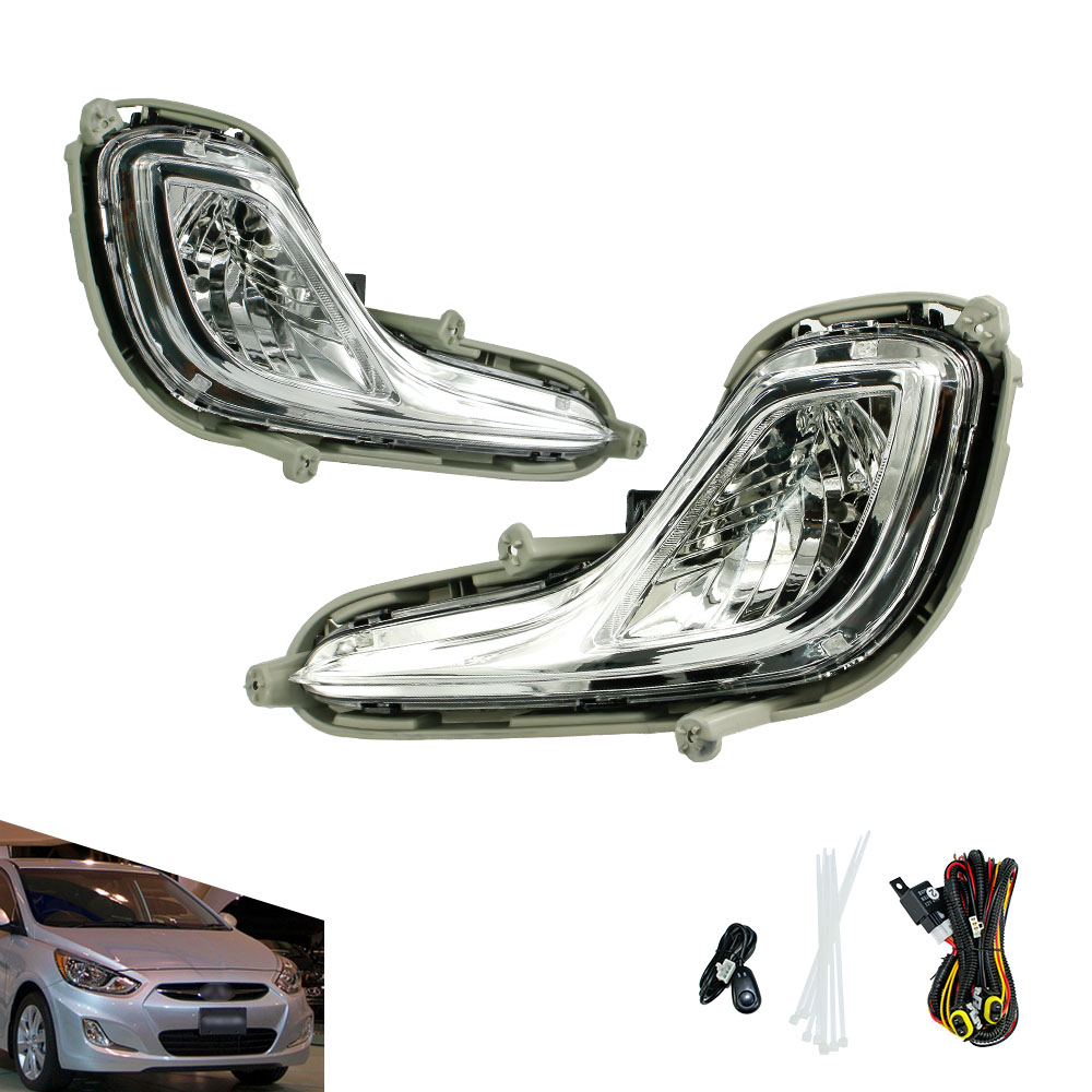 Fog light for Hyundai ACCENT 2012 2013 fog lamps Clear