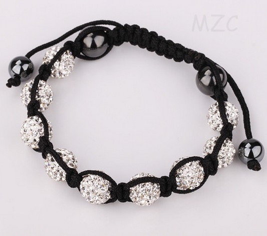 Useful Women Men Stone+free Shipping+gift.10mm Disco Ball Koev White Handmade Crystal Bracelet Jewelry For Women Men Bracelets & Bangles Jewelry & Accessories Shamballa