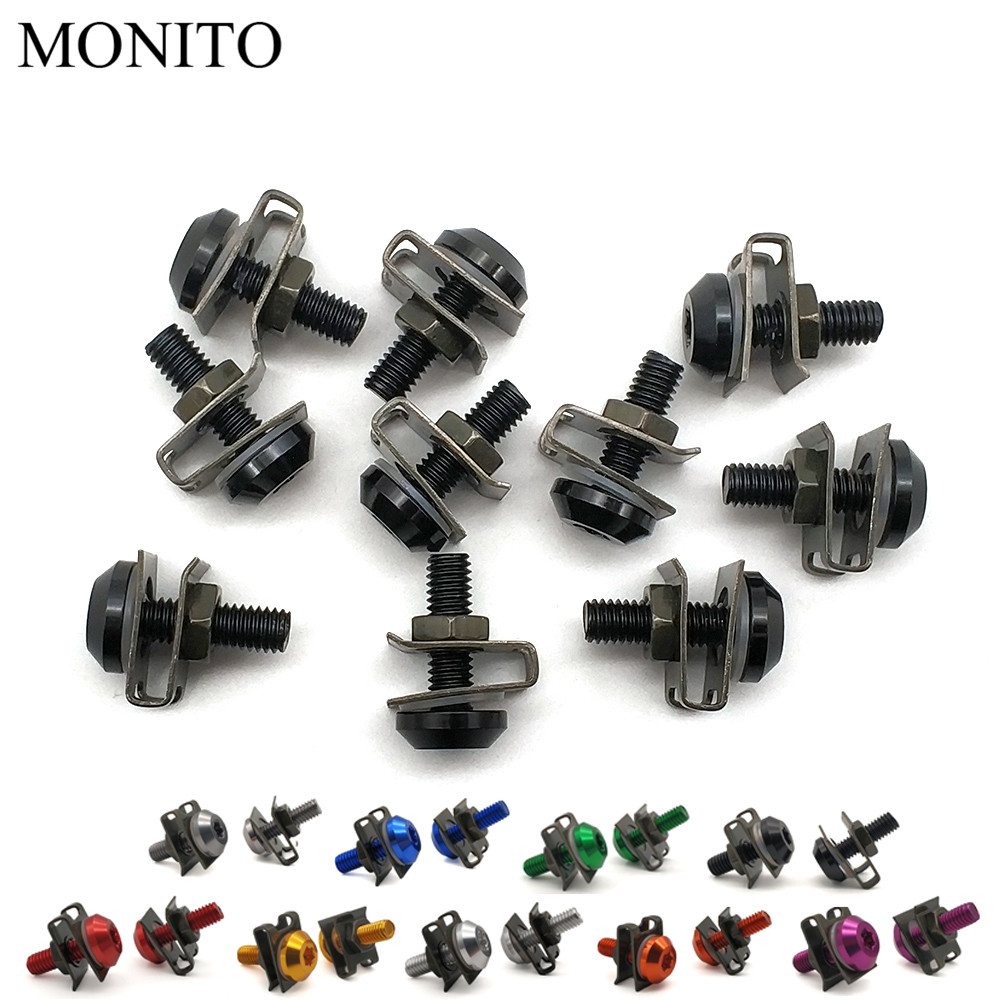 CNC Motorcycle Fairing Screws Custom Body Spring Bolts For KTM 530 XCW XCR W EXCR FREERIDE 250R 350 DUKE 690 Enduro R Accessory in Nuts Bolts from Automobiles Motorcycles