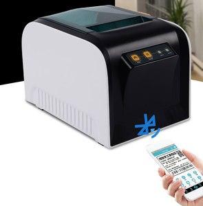 "Image 5 - גבוהה באיכות תרמית bluetooth Qr מדפסת Qr קוד בגדי תווית מדפסת 20 80 מ""מ מדבקת מדפסת"