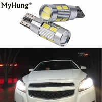 2pcs for chevrolet cobalt orlando spark captiva lacetti niva aveo cruze drl 12v led W5W T10 canbus Car Light with Projector Lens