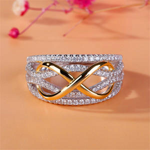 LOREDANA Suits Ornament Zircon Micro-Inlaid Party Wedding Metal Ring.multicolored Creative