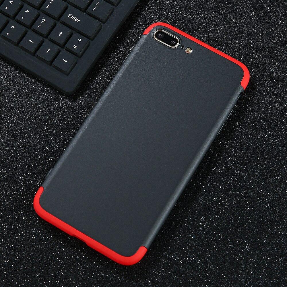 Люкс 360 Полный Средства ухода за кожей матовая крышка жесткий корпус телефона для iPhone 7 6 6S плюс кожи ультра тонкий coque телефон чехол для Iphon 7 ...