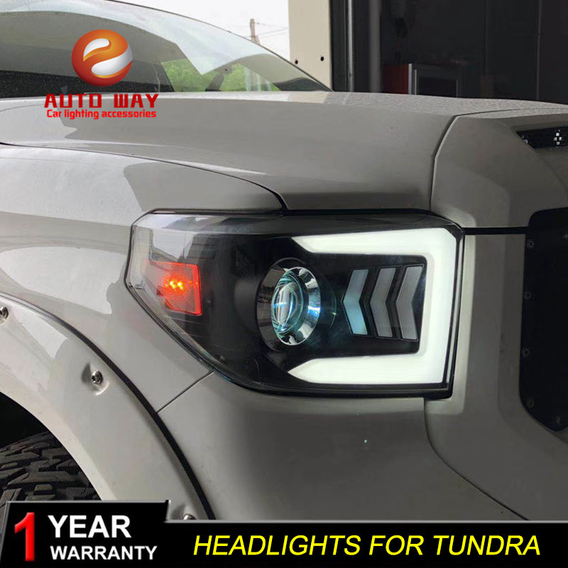 Car Styling Head Lamp case for Toyota Tundra Headlights Tundra LED Headlight DRL Lens Double Beam Bi-Xenon HID car Accessories auto part style led head lamp for toyota tundra led headlights 09 11 for tundra drl h7 hid bi xenon lens angel eye low beam