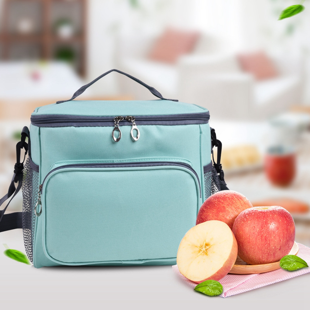 New Fresh Keeping Waterproof Nylon Cooler Bag Lunch Bag For Insulation Thermal Bag Insulation Ice Pack
