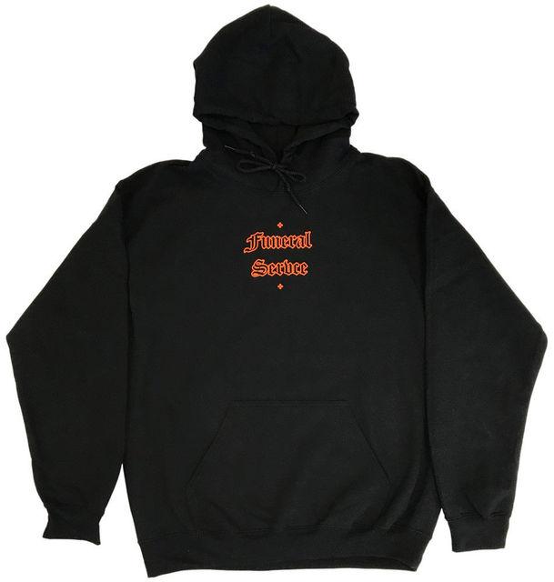Men Clothes 2018 Funeral Servce Mens Spooky Black Hoodie Whitechapel Lil Pump Mens Hoodies Casual Cotton Fleece Sweatshirts Men
