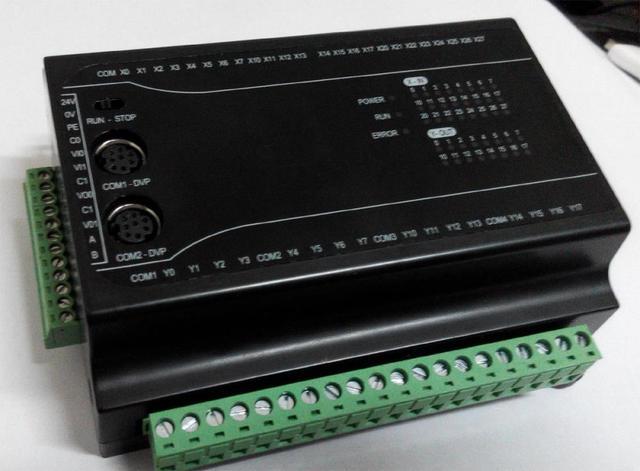 FX2N 40MR 40MT PLC Module for Mitsubishi, with 24DI 16DO 2AI 2AO 4-Axis Pulse Output RS485 MODBUS