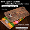 For ZTE Nubia Z17 Back Case Cowhide Genuine Leather Rear Cover Mobile Phone Bag For ZTE