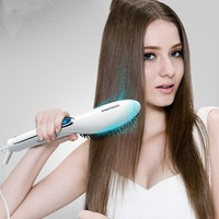 PRITECH Ceramic Hair Straightening Irons Professional Electric Digital Fast Hair Straightener Brush Hair Care Styling Comb Gifts