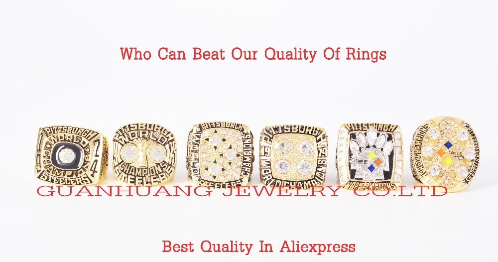 Who Can Beat Our Rings High Quality 1974 1975 1978 1979 2005 2008 Steelers Pittsburgh Championship