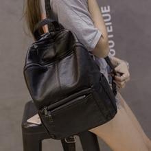 New Women Backpack High Quality PU Leather Mochila Escolar School Bags For Teenagers Girls Top-handle Backpacks Herald Fashion