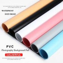 Placa de fundo para fotografia, fundo de estúdio fotográfico colorido dualface matte de pvc à prova de poeira