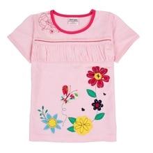 купить 2019 Summer Floral Girls T-Shirt Cotton Short Sleeve Cute Girls Tops for Kids T-Shirt Cartoon Print Kid Clothes Girls Shirts по цене 698.9 рублей