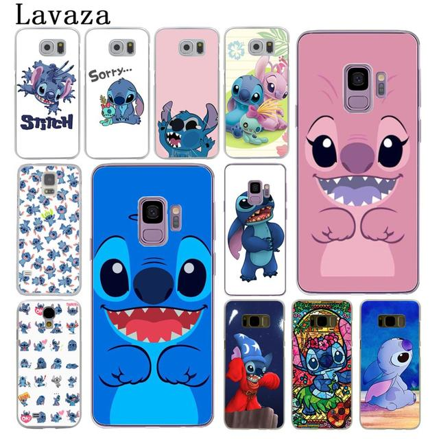 brand new 4f55d 8adfd US $1.99 22% OFF|Lavaza cute cartoon Lilo & Stitch Hard Phone Cover Case  for Samsung Galaxy S10 E S10E S8 S9 Plus S6 S7 Edge Cases-in Half-wrapped  ...