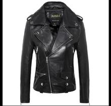 Free shipping,Genuine leather woman slim fur jackets.fashion motorbiker Asian size female sheepskin jacket Brand Suede