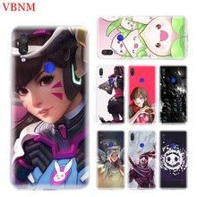 Overwatchs OW D.VA Phone Case for Xiaomi Redmi S2 Y3 Y2 K20 Pro Note 7 7S 6 5 4 4X Mi Pocophone F1 9 8 A2 Lite Coque Cover