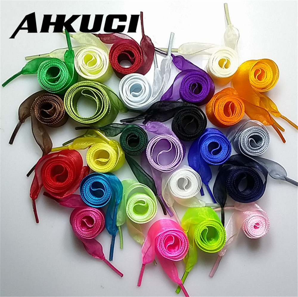 10 pairs Shoe laces Strings For Multi Color Chiffon Shoelaces Adult Child Sizes Trainers  Boots 110cm