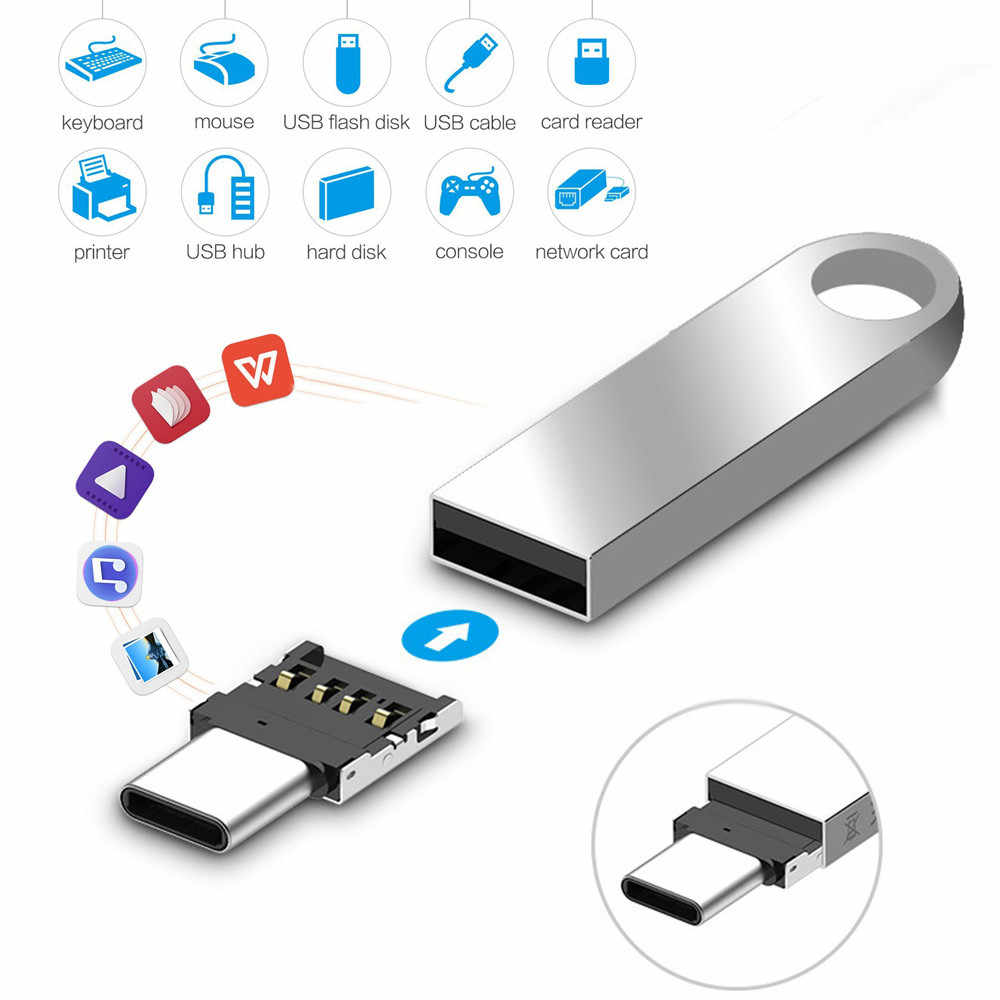 Ascromy Micro USB Female to Type C Male Adapter for Xiaomi Mi 8 Redmi Note 7 Huawei P20 Lite Oneplus 6 Samsung S8 Plus S9 Note 9