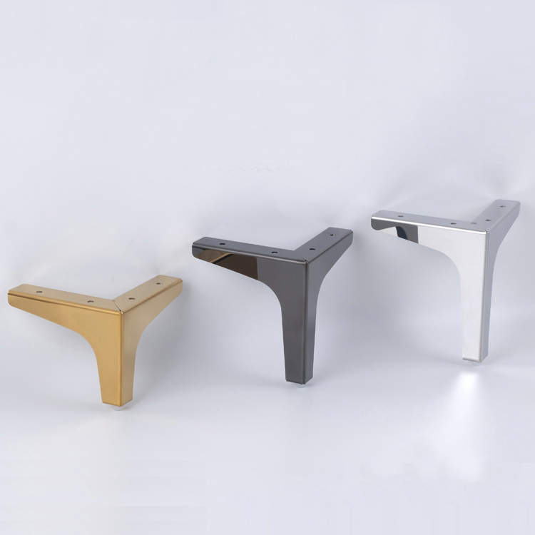 4Pcs  Furniture Legs Sofa Chair Feet Cupboard Cabinet Foot 10.2/13.6/15.2/16.8CM Height Bed Legs With Screws