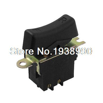AC 250V 6A Momentary DPDT NO Black Case Electric Wrench Power Trigger Switch 6 250 791576