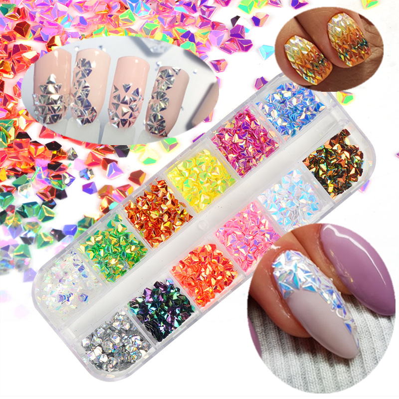 Beauty & Health Strong-Willed Bittb 12 Colors Nail Glitter Sequins 3d Nail Rhinestones Accessories Gold Chain Studs Charms Nails Art Jewelry Diy Manicure Kits Online Shop