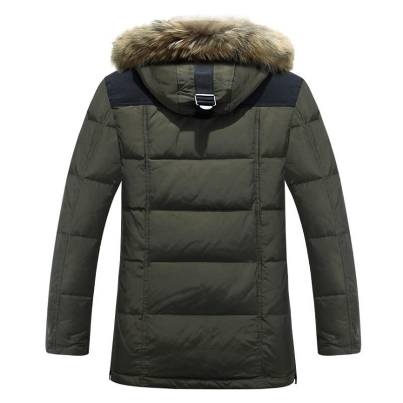 Homme mode hiver Plumas Hombre vêtements épais lâche Chaquetas De Invierno à capuche hommes vêtements élégant vestes manteau - 2