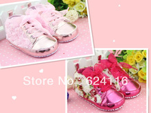BX25 6pairs/lot New Lovely Cute 3D Rose Floral Shoes Prewalkers Footwear Baby Infant  Toddler Girls Shoes