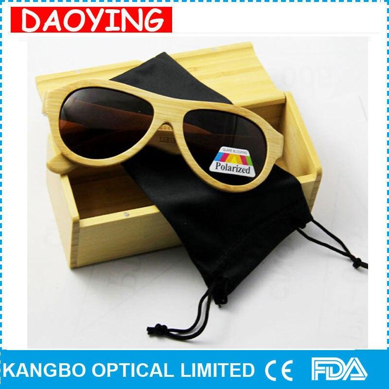 DAOYING Bamboo wood sunglasses fashion vintage Shield polarized lens eyewear eyeglasses - Susan store