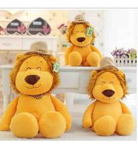 lovely lion king plush toy cartoon lion in cap doll best gift for kids