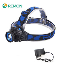Headlight Cree Q5 Waterproof LED Headlamp High Bright Built-in Lithium Battery Rechargeable Head lamps 3 Modes Zoomable Torch