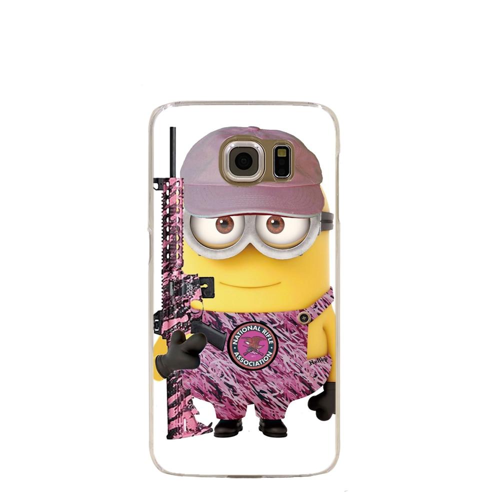 10808 PINK CAMO MINION cell phone case cover for Samsung Galaxy S7 edge PLUS S6 S5 S4 S3 MINI