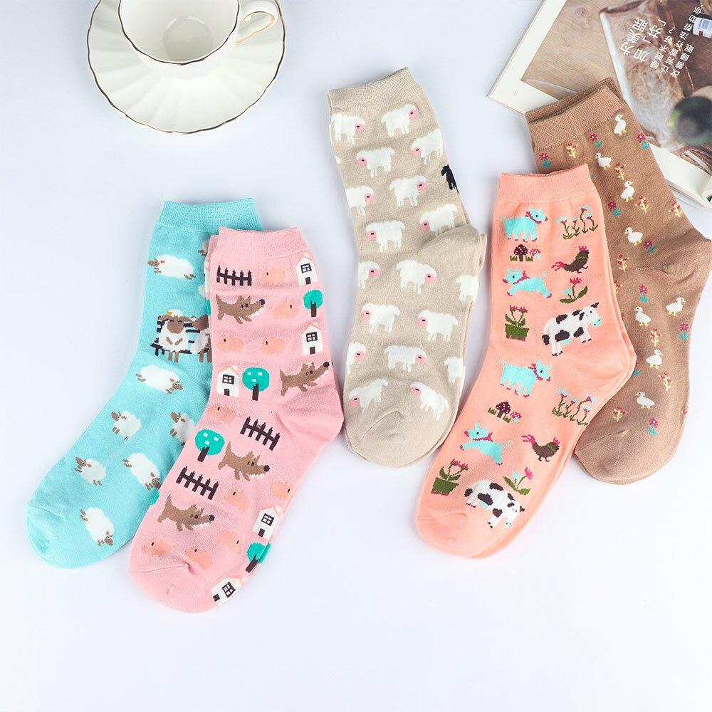 Xmas Socks Cat Footprints South Cute Cotton Socks Autumn Cartoon Soft Warm Socks