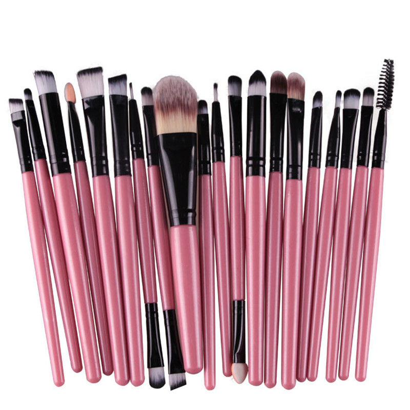 20Pcs/Kit Makeup Brushes Set Eye Shadow Brow Eyeliner Eyelash Lip Foundation Power Cosmetic Make Up Brush Beauty Tool maange pro 18pcs kit makeup brushes set eye shadow brow eyeliner eyelash lip foundation power cosmetic make up brush beauty tool