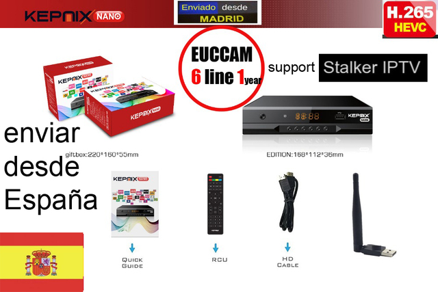 hevc Satellite Receiver KEPNIX nano h.265 v7s iptv m3u powervu xtream 2x usb metal case