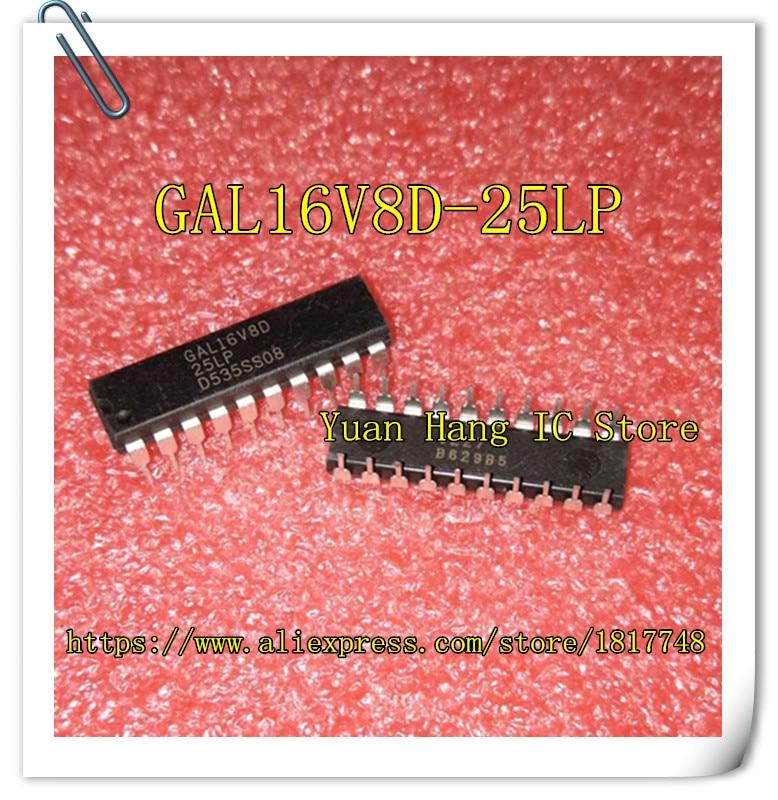 10pcs/lot GAL16V8D-25LP GAL16V8D 25LP   GAL16V8D  DIP-20