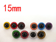 free shipping!!50pcs 15mm 10color can choose round safety eyes with white washer