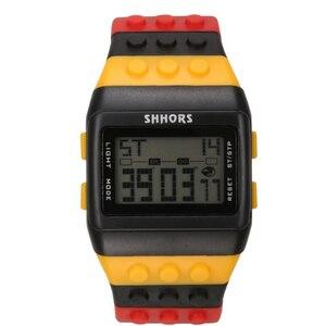 Image 5 - 2018 Shhors zegarek Rainbow klasyczne Unisex modne zegarki kolorowy pasek tanie cyfrowe światło led Drop shipping