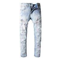 Oi-Q Nova Chegada calças Famosa Marca de Jeans Homens de Jeans Caber Denim Calças Jeans Clássico Cor Azul Tamanho 28 A 38 calças