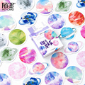45 Pcs/Box Beautiful No. 32 Planet mini decoration paper sticker package DIY diary decoration sticker album scrapbooking|Stickers|Home & Garden -