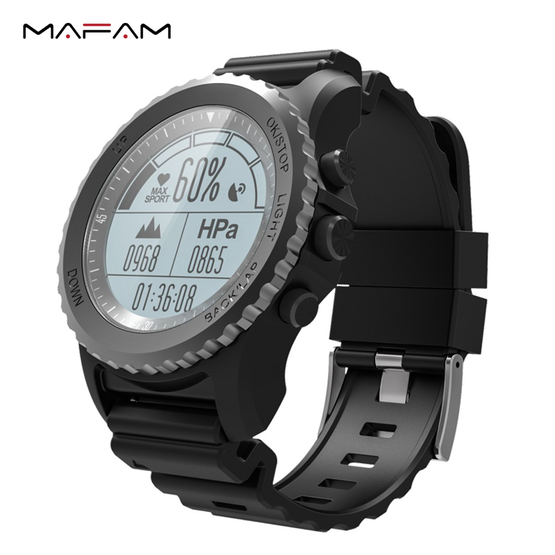 MAFAM S968 GPS Smart Watch IP68 Waterproof Smartwatch Dynamic Heart Rate Monitor Multi-sport Swimming Running Men Sport Watch