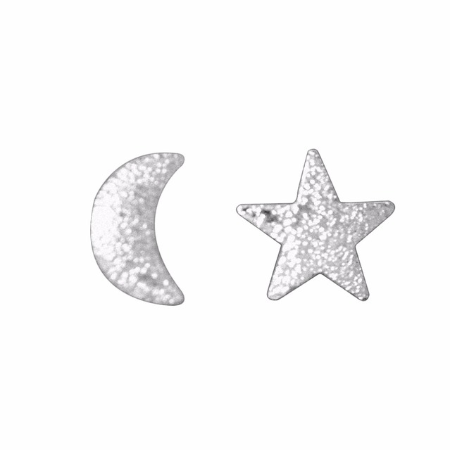 10pair 925 Sterling Silver Moon Stars Stud Earrings For Women Girl Romantic Gift Prevent Allergy Sterling-silver-jewelry