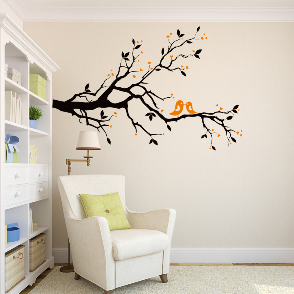 Online Get Cheap Love Birds Stickers Aliexpresscom Alibaba Group - Diy wall decor birds