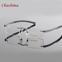 Colorful Frameless Top Quality Optical Frames Black Blue Red Elegant Myopia Spectacle Rimless Glasses