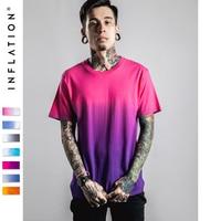 INFLATION Men S Funny Hip Hop Dip Dye Cotten Crew Short Sleeve T Shirt Tee