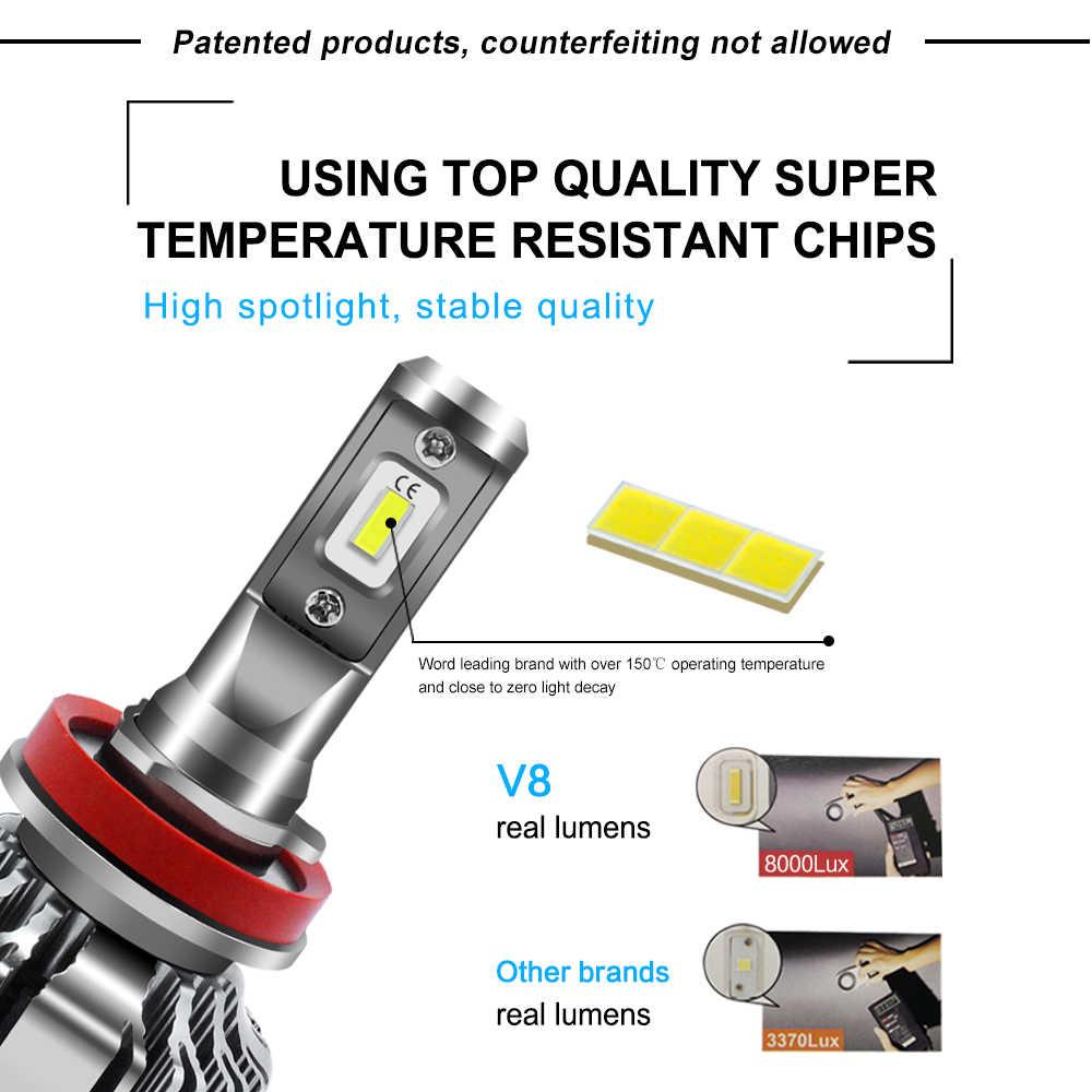 2 Pcs Car Headlight For Skoda Octavia 2 Citigo Rapid Fabia Superb H7 LED H4 LED H1 H7 H3 9005 8000LM CSP Chips Fog Light Bulb