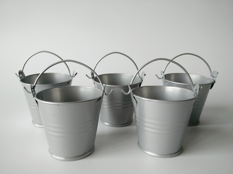 100Pcs Lot D5 5 H5CM wedding Bucket Mini Flower pots and planters Mini Pails wedding favors