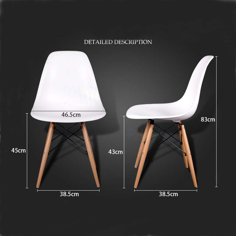 Surprising Us 480 0 Set Of 6 Pp Plastic Dining Chairs Beech Wood Legs In Dining Chairs From Furniture On Aliexpress 11 11 Double 11 Singles Day Bralicious Painted Fabric Chair Ideas Braliciousco