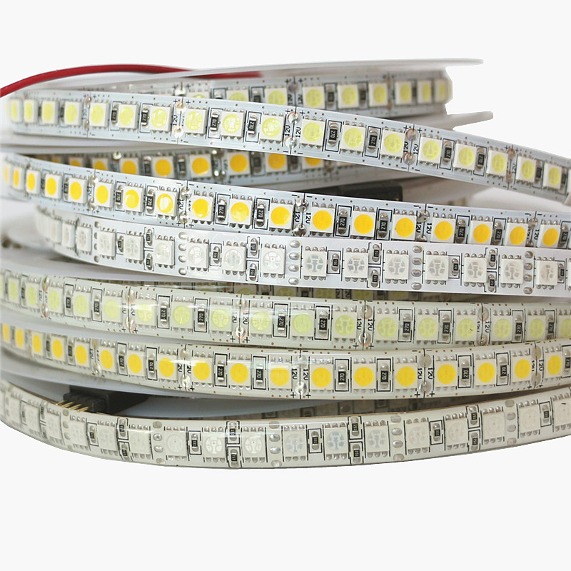1m 2m 3m 4m 5m DC12V 5050 Flexible LED Strip Light 60leds/m 120leds/m SMD5050 LED Diode Ribbon Tape Lamp Lighting Warm White RGB