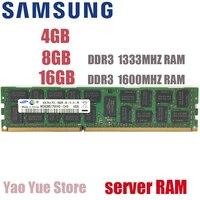 SAMSUNG 4GB 8GB 16GB 4G 8G 16G DDR3 2RX4 PC3 10600R 12800R ECC REG 1333MHZ 1600MHZ